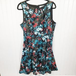 Elle Black Floral Sleeveless Dress